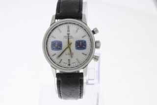 Delma Vintage Chronograph Valjoux 7733 Old Stock Bild