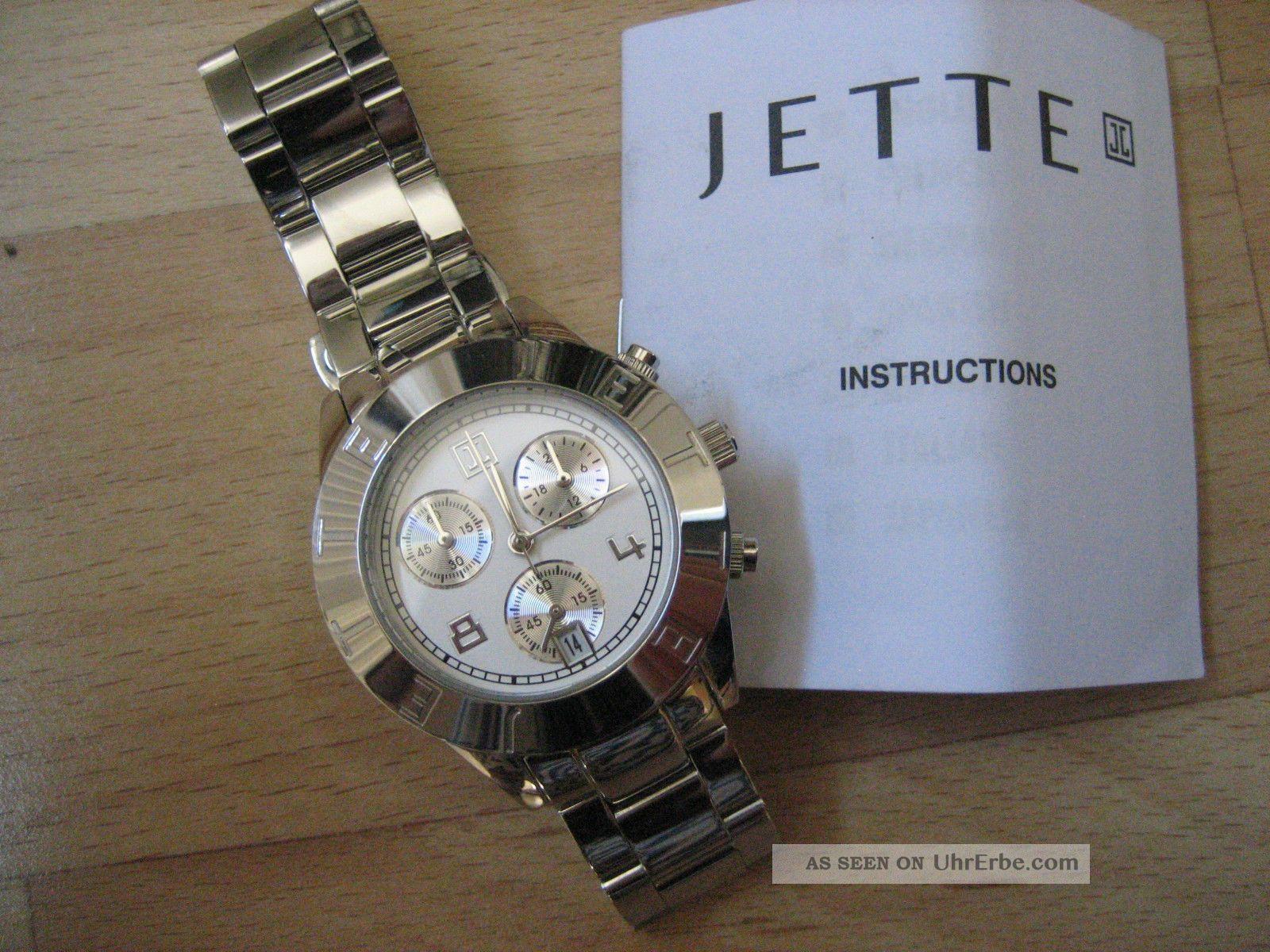 damen armbanduhr chronograph uhr jette joop edelstahl. Black Bedroom Furniture Sets. Home Design Ideas