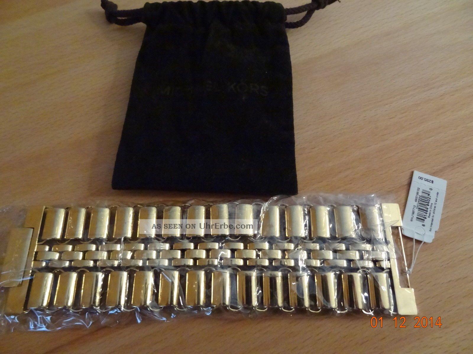 Michael Kors.  Braselet.  Armband.  Gold.  Weihnachten Armbanduhren Bild