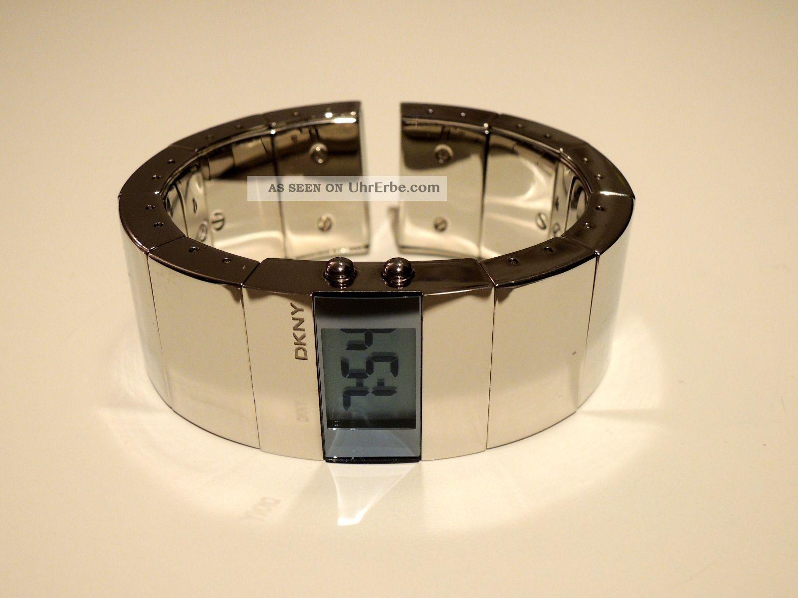 Dkny Damen Designer Armbanduhr Quarz Chrom Armbanduhren Bild