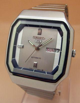 Seiko 5 Square Tv 6309 - 5860 Mechanische Automatik Uhr Datum & Taganzeige Bild