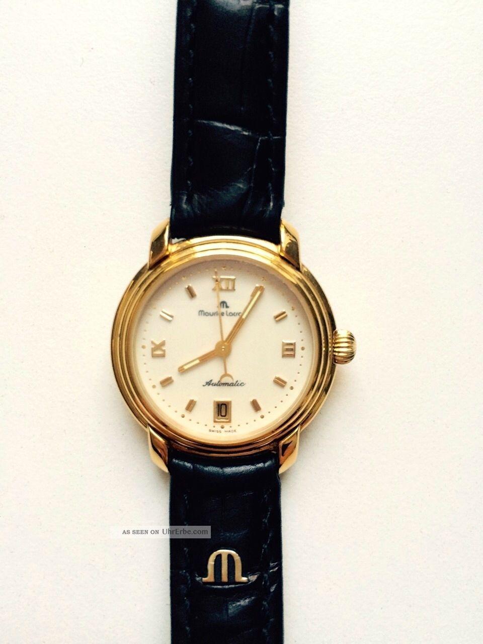 Maurice Lacriox: Tolle Armbanduhr,  Vergoldet,  Automatic,  Swiss Made, Armbanduhren Bild