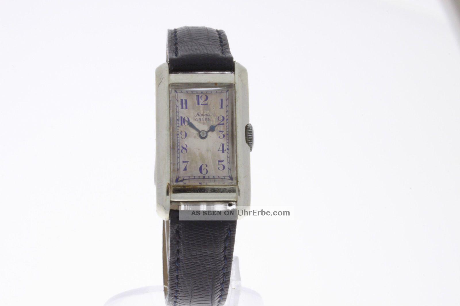 Alpina Grue Vintage Damenuhr Aus 14 Karat Weissgold Mit Handaufzug Armbanduhren Bild
