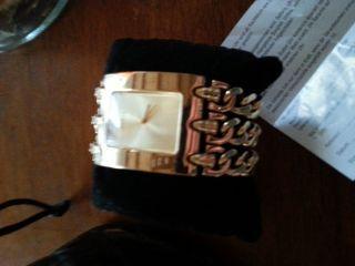 ♥guess Heavy Metal Gold Breit Damen Uhr Mit Verlängerungsglied Ovp ♥ Bild