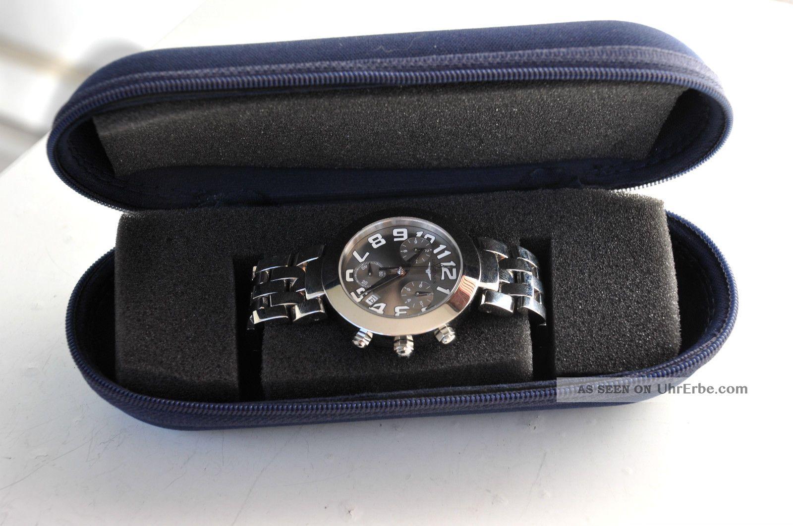 Longines Herrenuhr Mit Chronograph Datum M.  Box Superschönes Design. Armbanduhren Bild