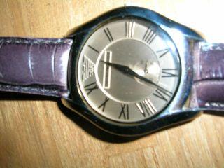 Emporio Armani Damen Armbanduhr Mit Braunem Lederarmband Bild