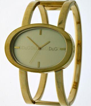 D&g Modische Dolce&gabbana Time Gold Designer Spangen Armbanduhr FÜr Junge Damen Bild