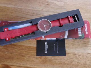 Lambretta Damen Armbanduhr Cielo Red (rot),  Lederarmband Bild
