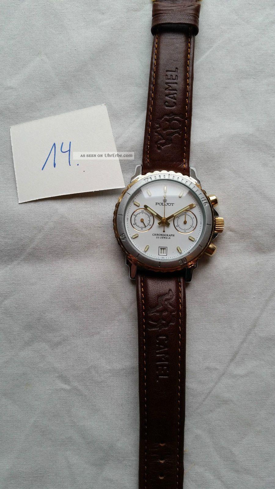 Poljot Russland Chronograph MilitÄr Handaufzug Cal.  3133 (14) Armbanduhren Bild