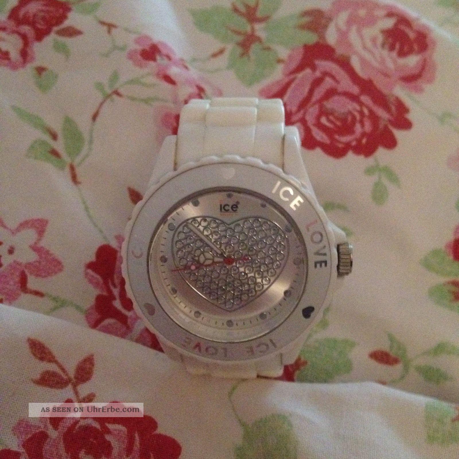 Ice Watch Uhr Love Herz Weiss Big Top Armbanduhren Bild