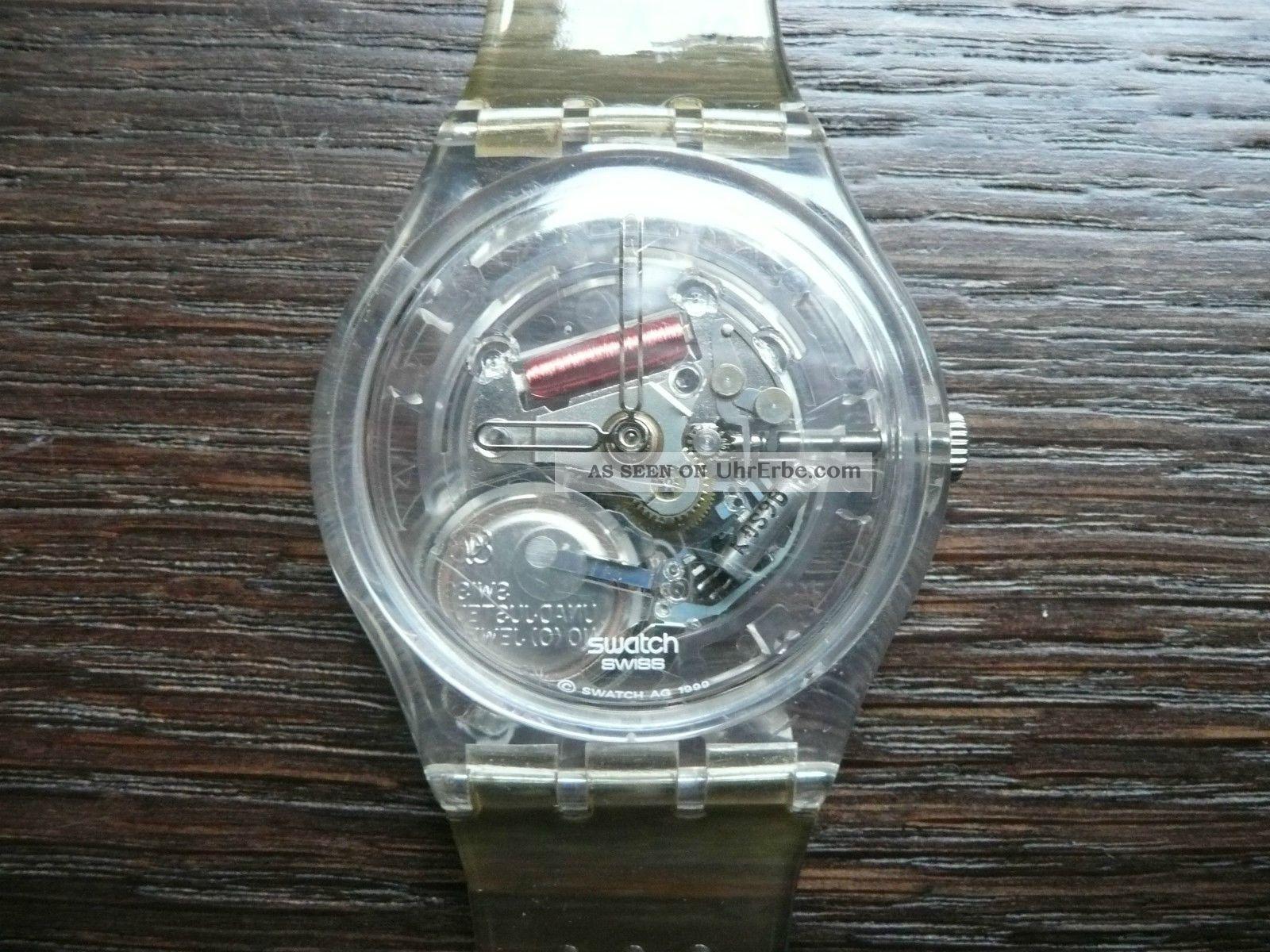 swatch watch uhr armbanduhr transparent uhrwerk. Black Bedroom Furniture Sets. Home Design Ideas