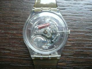 Swatch Watch Uhr Armbanduhr Transparent Uhrwerk Bild