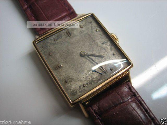 Iwc In 750 Gold 18k.  Von Ca.  1950.  Herrenuhr Armbanduhren Bild