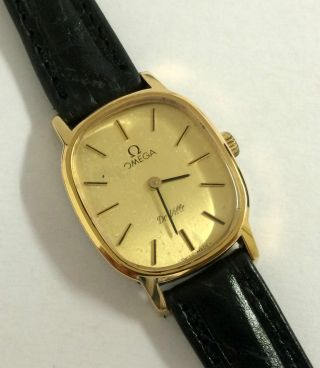 Vintage Omega De Ville Handaufzug Damen Armbanduhr,  Cal.  625. Bild