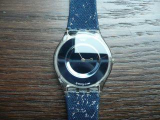 Swatch Watch Uhr Armbanduhr Blau Glitzer Skin Top Bild