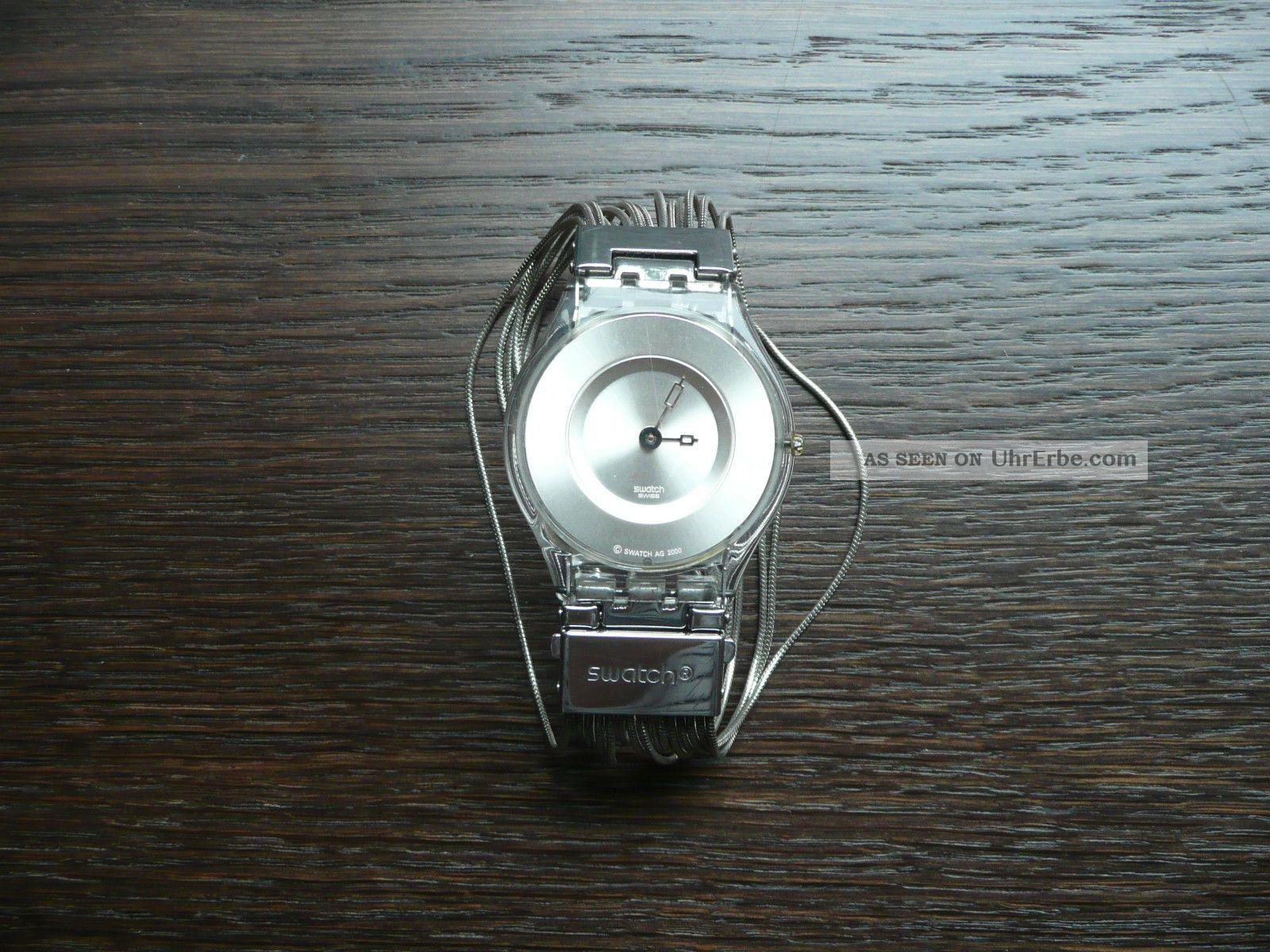 Watch Uhr Ketten Skin Silber Armbanduhr Top Swatch VzSpUM