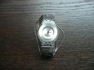 Swatch Watch Uhr Armbanduhr Silber Ketten Skin Top Bild