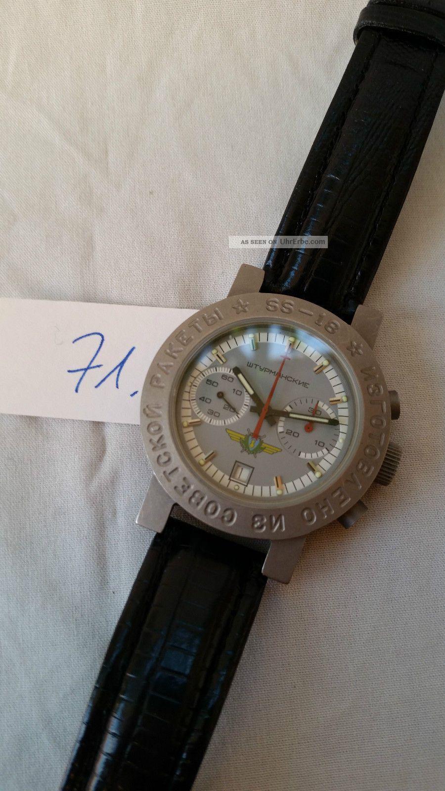 Poljot Russland Chronograph MilitÄr Titan Handaufzug Cal.  3133 (71) Armbanduhren Bild