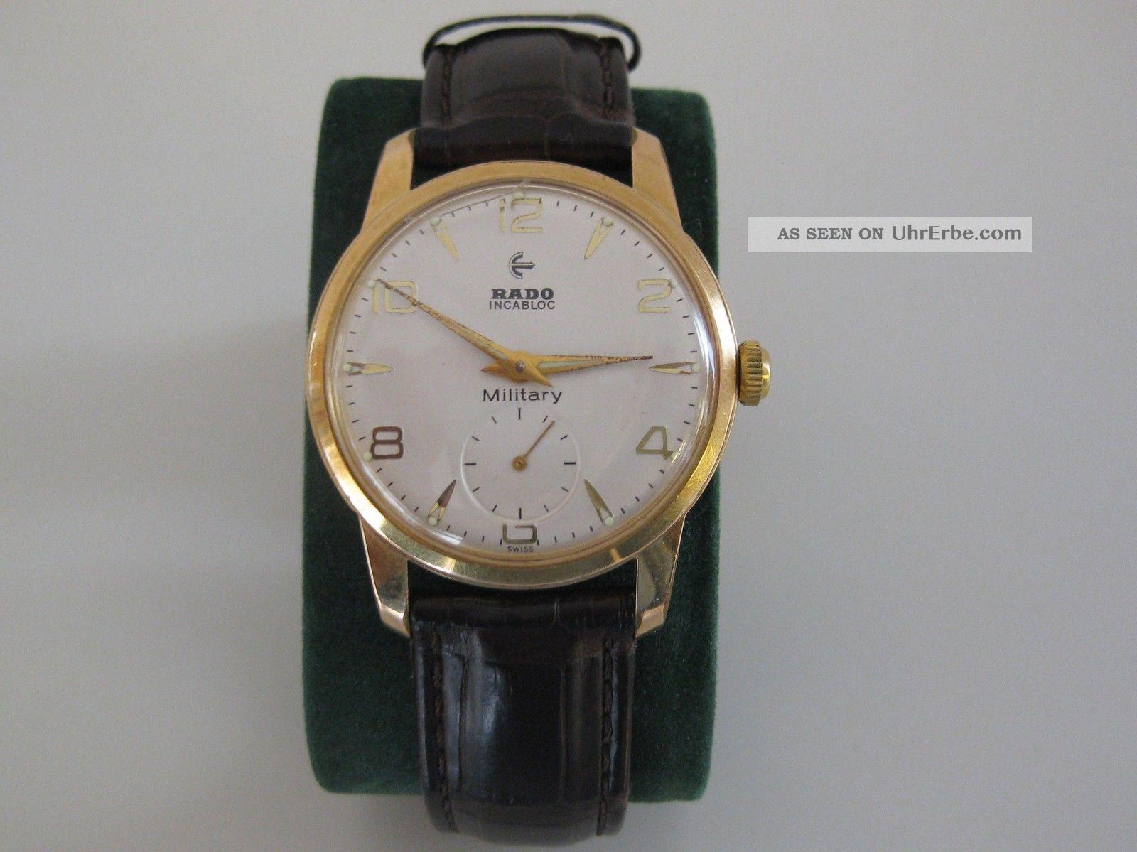 Rado Military Uhr Mit Mechanischem Handaufzug Swiss Made Armbanduhren Bild