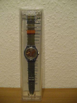 Uhr Swatch Automatik Automatic Armbanduhr Dau Hau Herren Damen Grau Bild