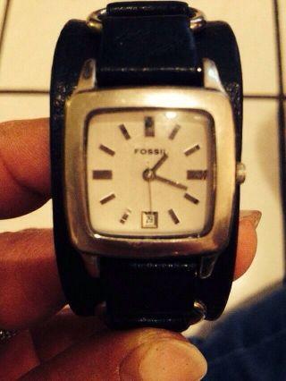 Fossil Armbanduhr 3cm Breit Pünktlich Zu X - Mas Bild