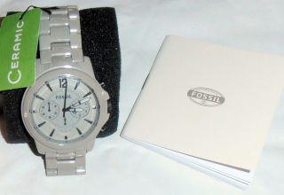 Fossil - Ceramik - Damen Armbanduhr - Ce 5017 - Grau - Mit Etikett Bild