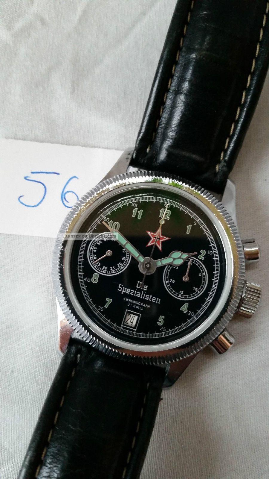 Poljot Russland Chronograph MilitÄr Handaufzug Cal.  3133 (56) Armbanduhren Bild