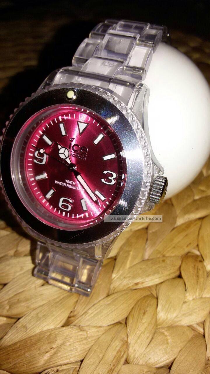 Damen Ice Watch Armbanduhr Pink/durchsichtig Armbanduhren Bild