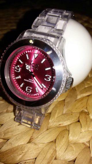 Damen Ice Watch Armbanduhr Pink/durchsichtig Bild