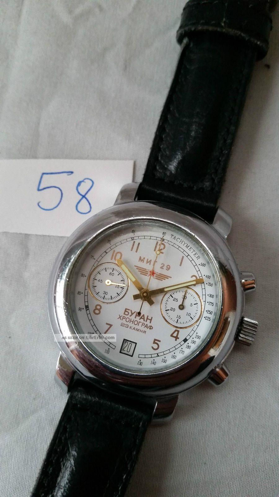 Poljot Russland Chronograph MilitÄr Handaufzug Cal.  3133 (58) Armbanduhren Bild