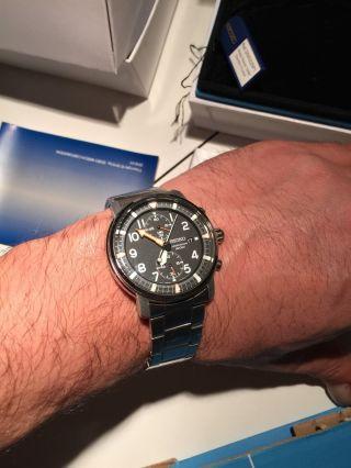 Seiko Chronograph Cal.  7t94 100m Wasserdicht Edelstahl Sportlich Elegant Bild