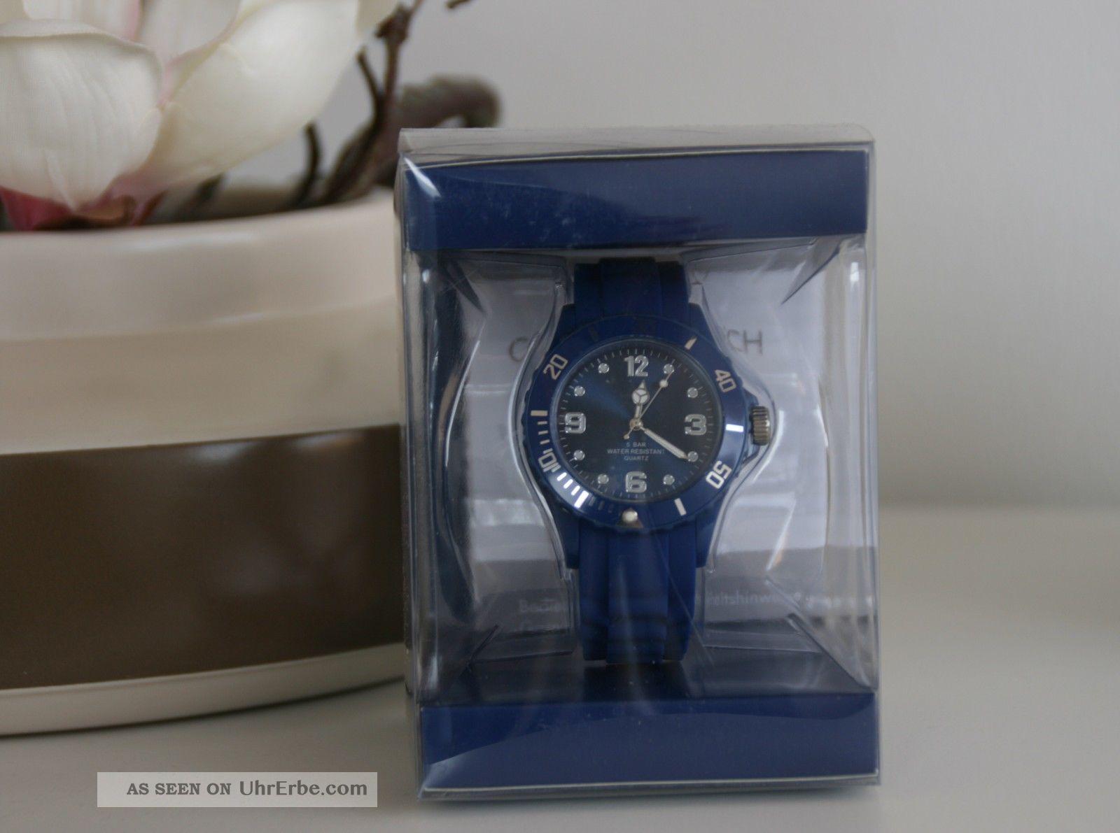 Colour Watch Coole Farbige Armband Uhr Blau - Mit Ovp Armbanduhren Bild