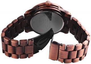 Damen Uhr Herren Excellanc Metall Armbanduhr Rose Gold Kupfer Bild
