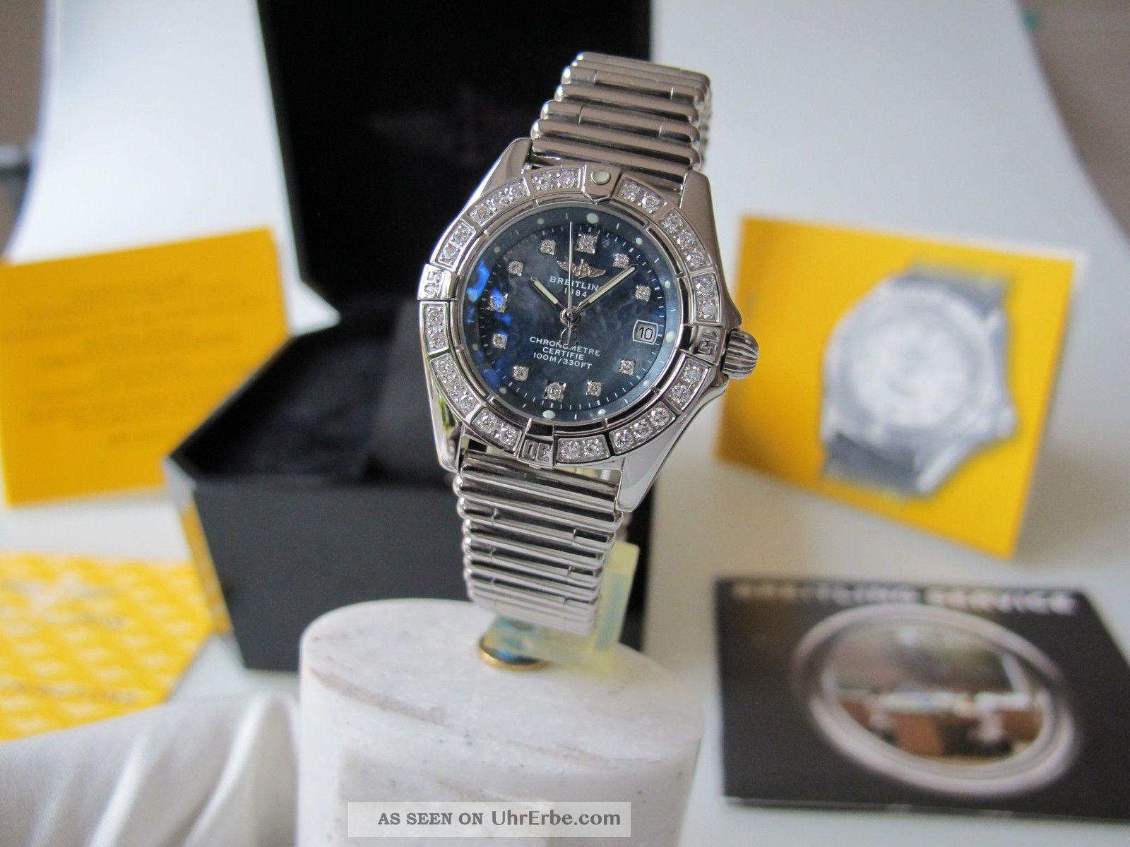 Breitling Lady Callistino Perlmutt - Diamant Zifferblatt Diamant - LÜnette Armbanduhren Bild