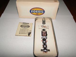Fossil Damenuhr Quarz Es 9900 Silber Bild