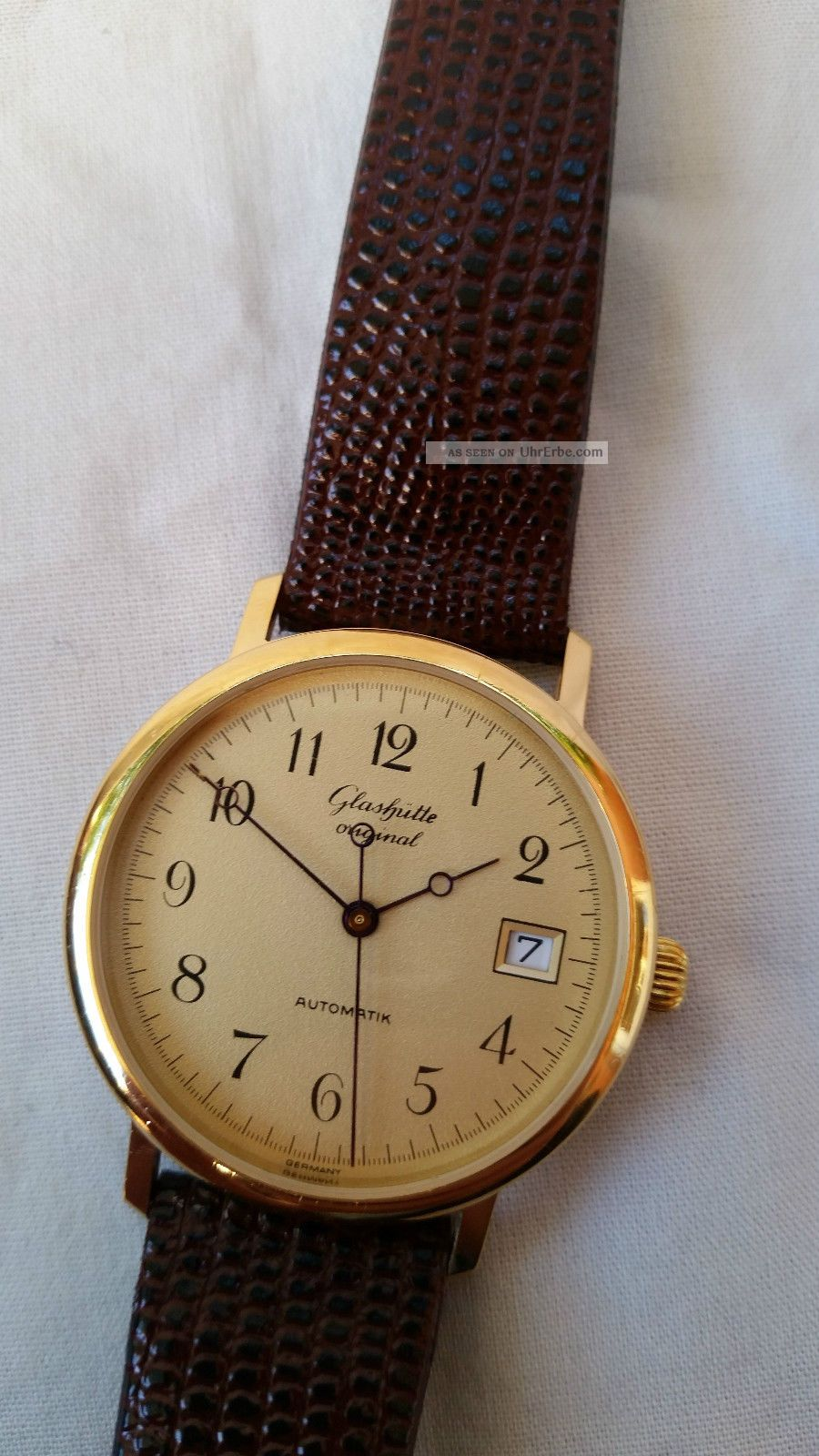 GlashÜtte Automatik Cal.  10 - 30 Datum Vergoldet Anfang 1990er Jahre Armbanduhren Bild