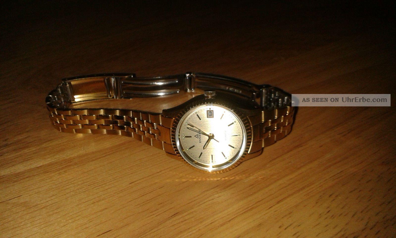Damenarmbanduhr Edelstahl Mit Goldauflage Armbanduhren Bild