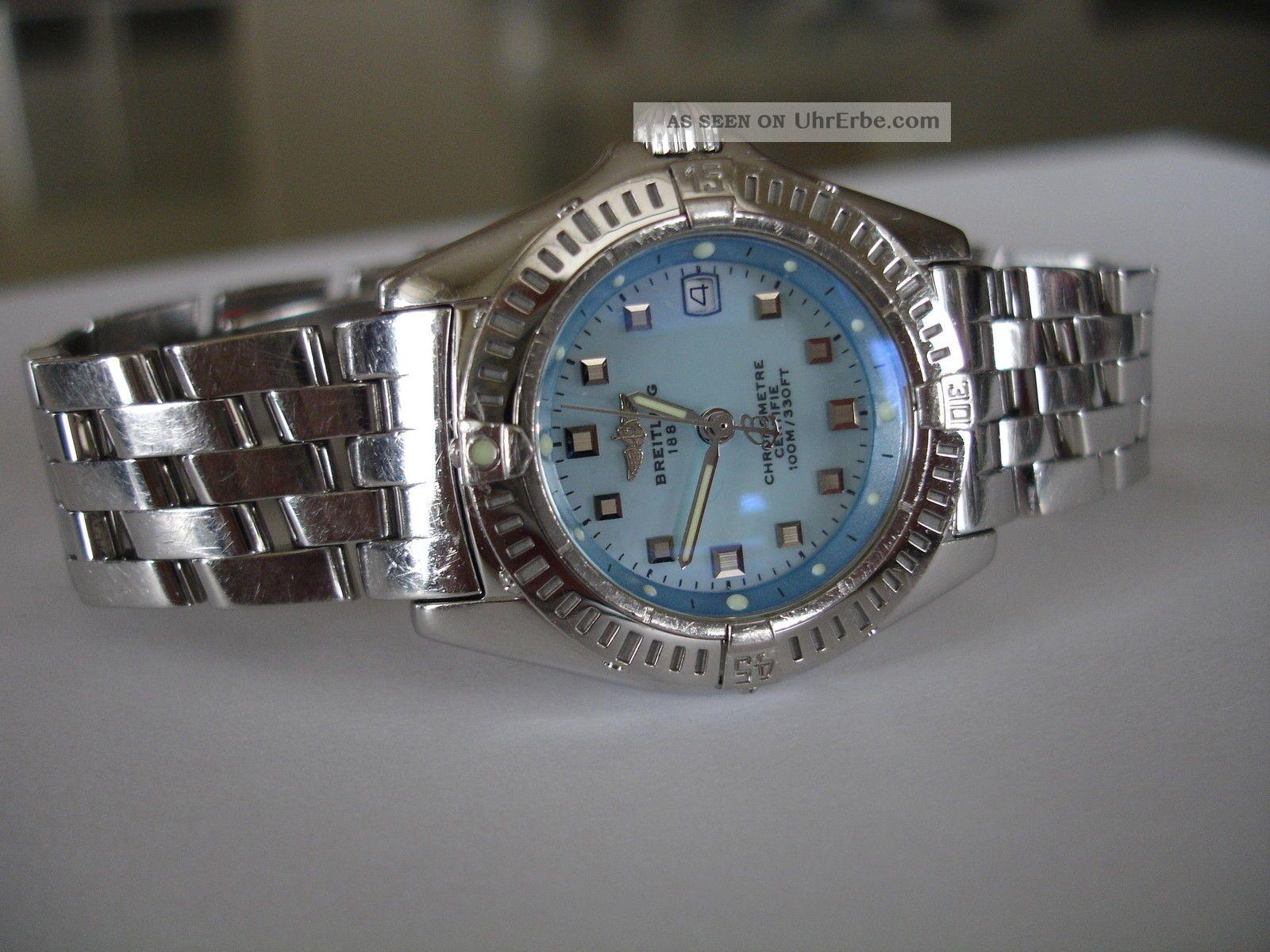 Breitling Callistino Stahl Uhr/ Watch A72345 Pilot Band/ Bracelet Armbanduhren Bild
