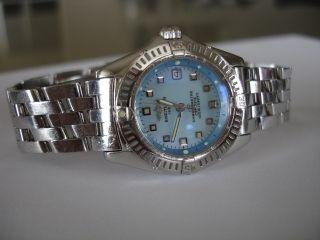 Breitling Callistino Stahl Uhr/ Watch A72345 Pilot Band/ Bracelet Bild