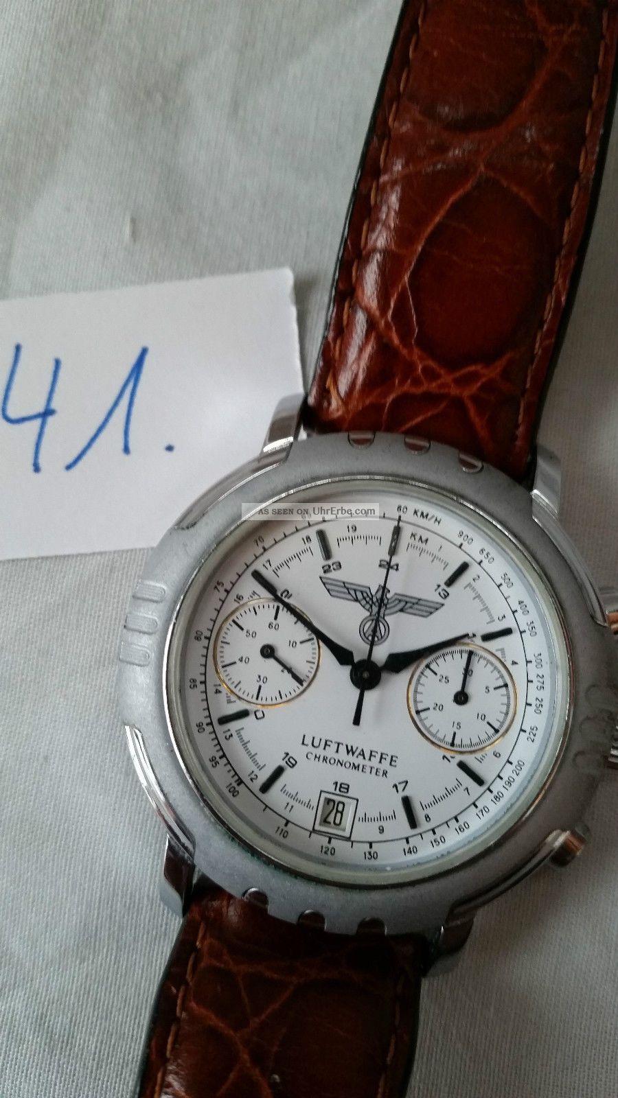 Poljot Russland Chronograph MilitÄr Handaufzug Cal.  3133 (41) Armbanduhren Bild