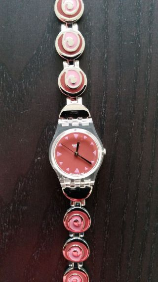 Swatch Armbanduhr Damen Silber Wie Bild