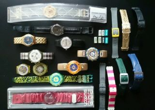 Uhrensammlung Swatch - Automatik - Chronograph - Armband Swiss Made Bild