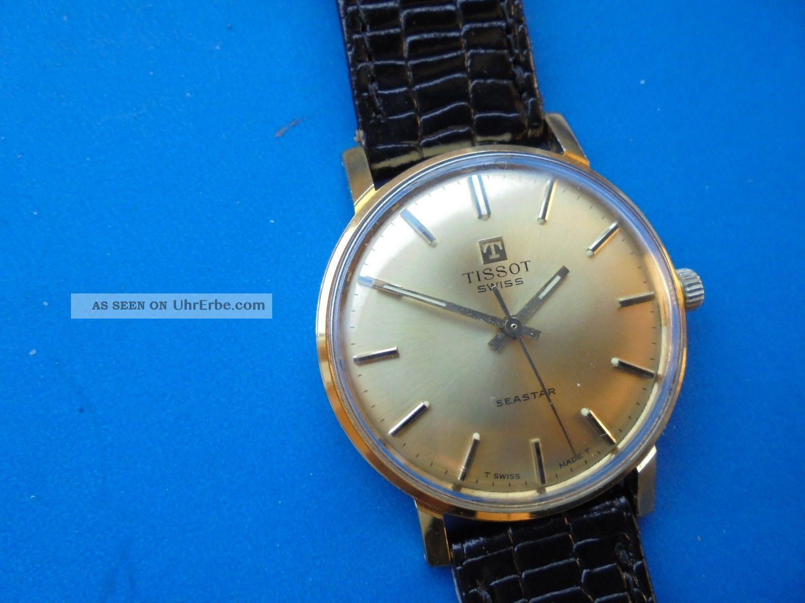 Schöne Ca 40 Jahre Alte Tissot Seastar Herrenuhr,  Handaufzug Kal.  2451 Armbanduhren Bild