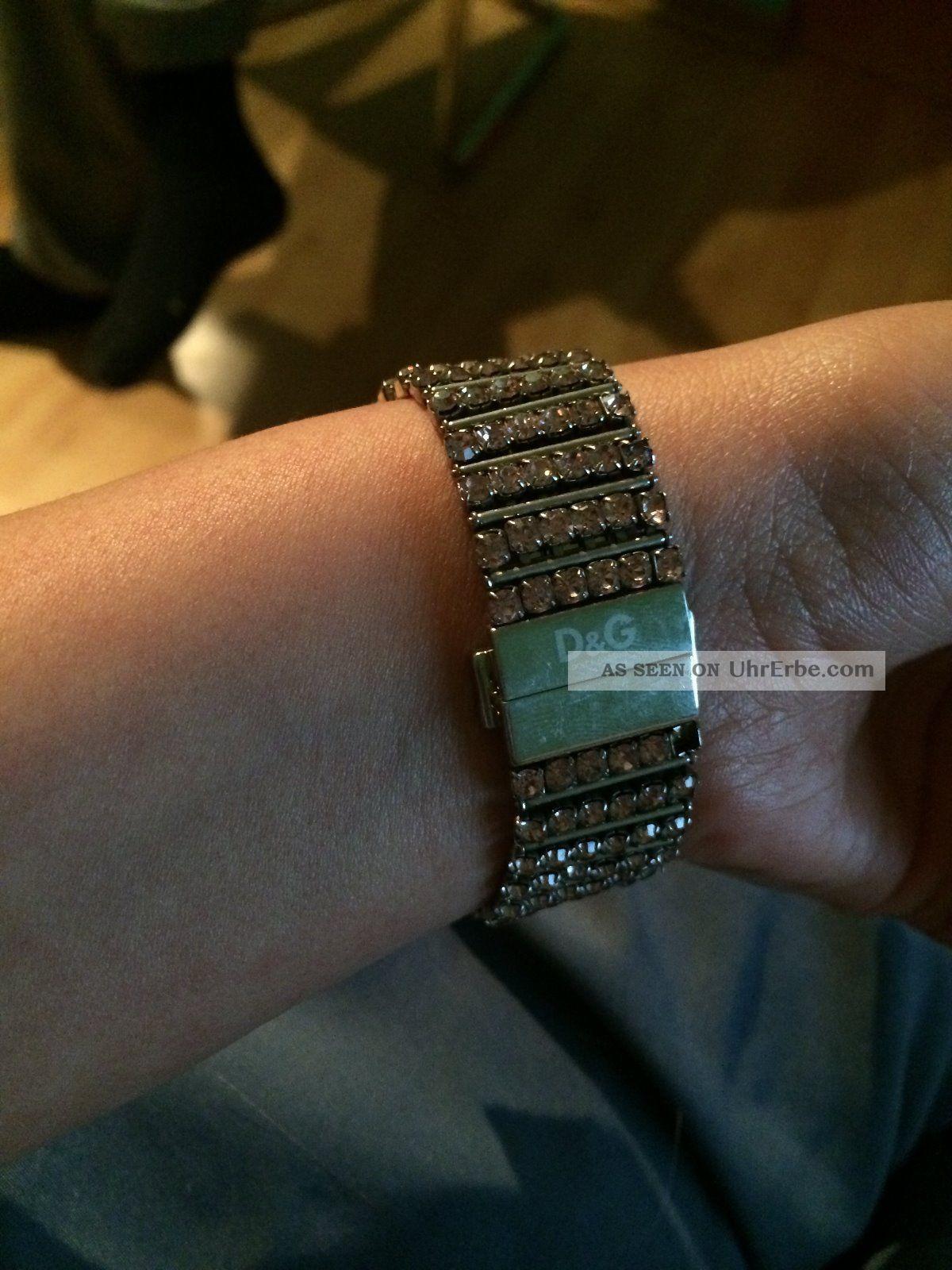 Dolce & Gabbana Uhr Pink Strassbesetzt Armbanduhren Bild
