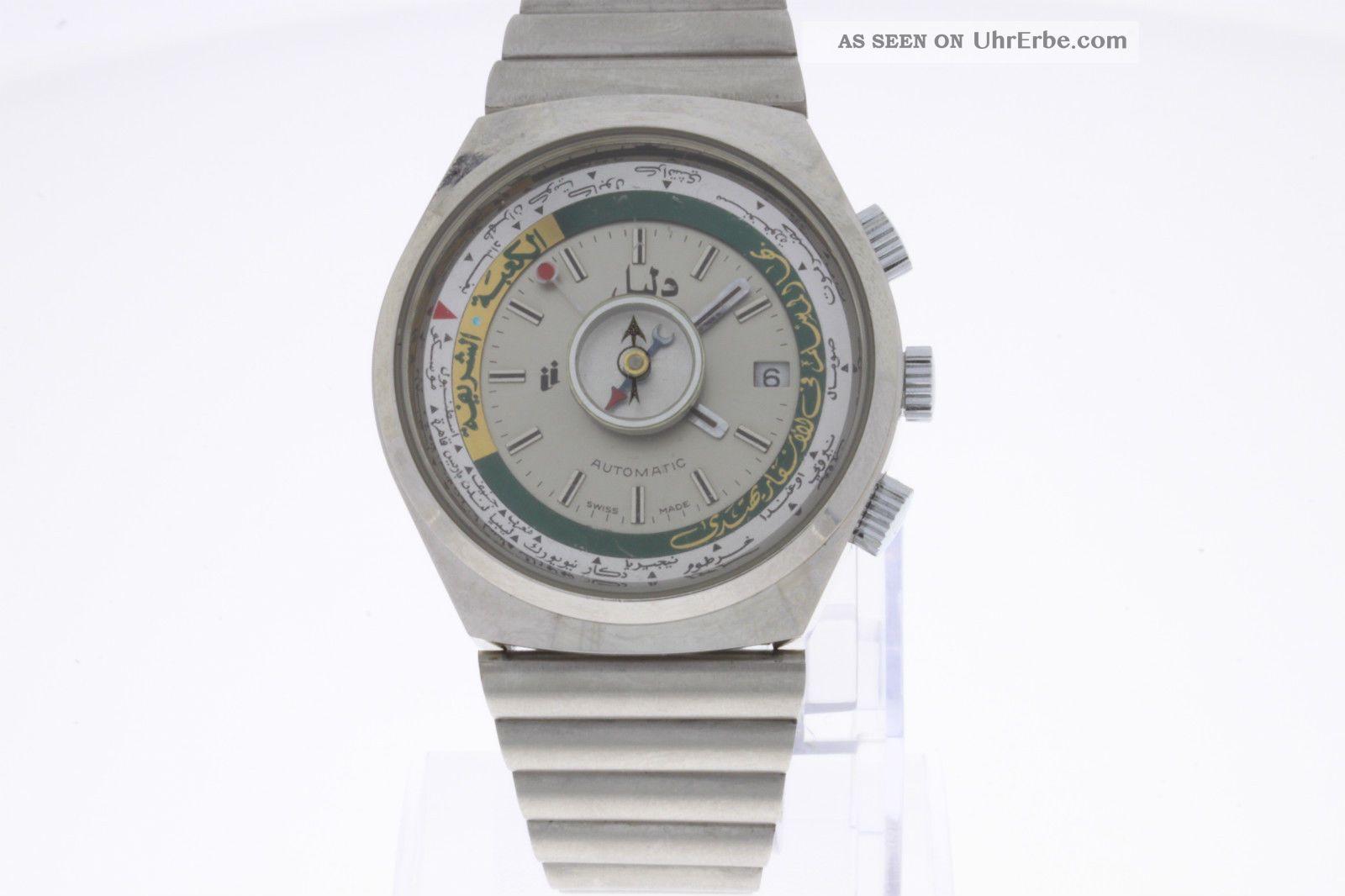 Vintage Armbanduhr Mit Automatikwerk Und Kompass Armbanduhren Bild