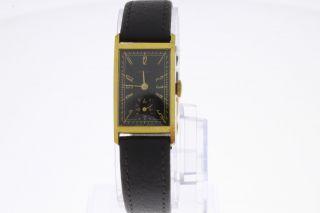 Record Vintage Armbanduhr Mit Handaufzug Vergoldet Bild