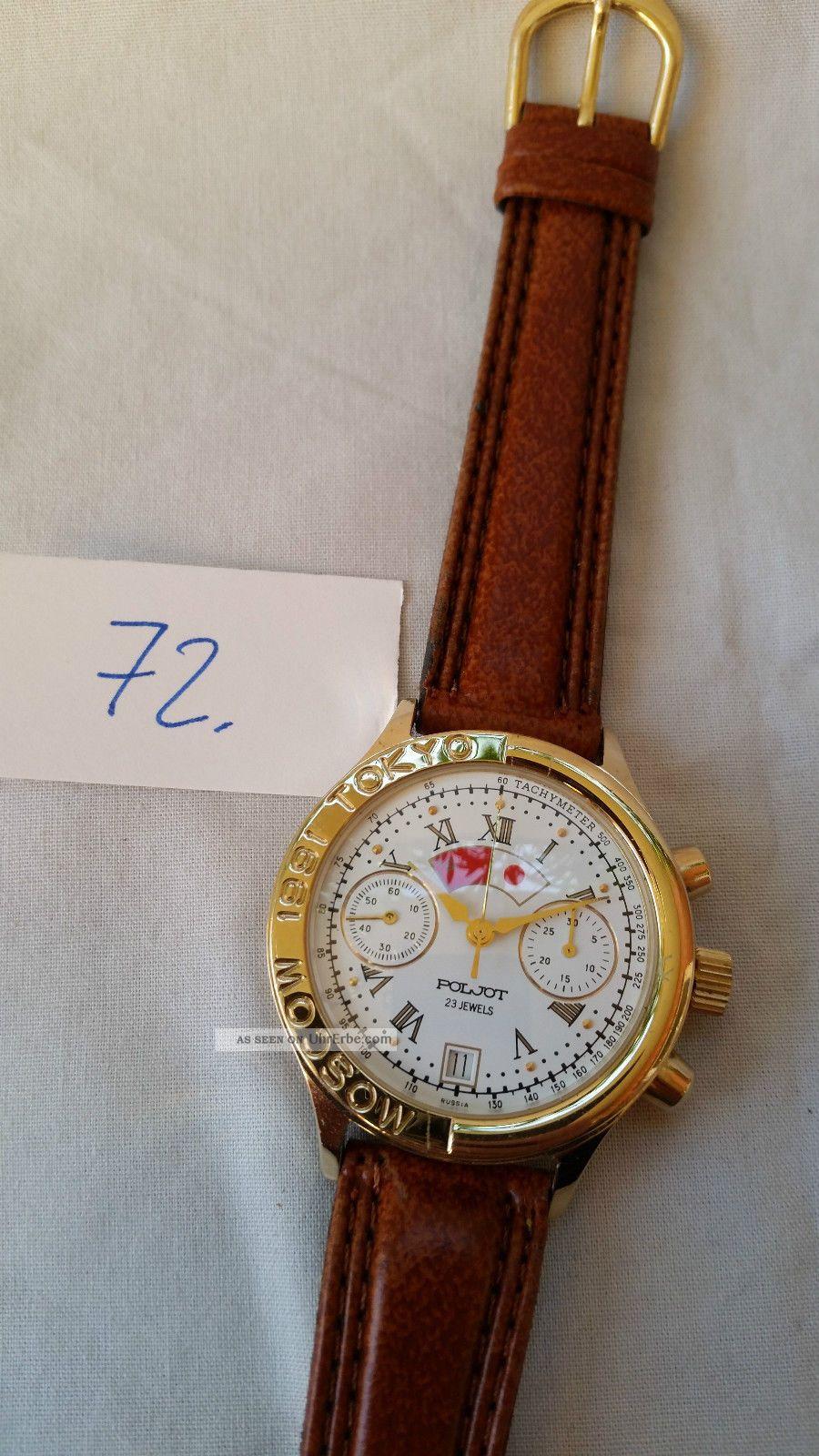 Poljot Russland Chronograph MilitÄr Handaufzug Cal.  3133 (72) Armbanduhren Bild