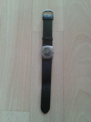 Armbanduhr (quartzuhr,  King Quartz),  Echtleder - Armband,  2,  2 Cm Breit,  Schwarz Bild