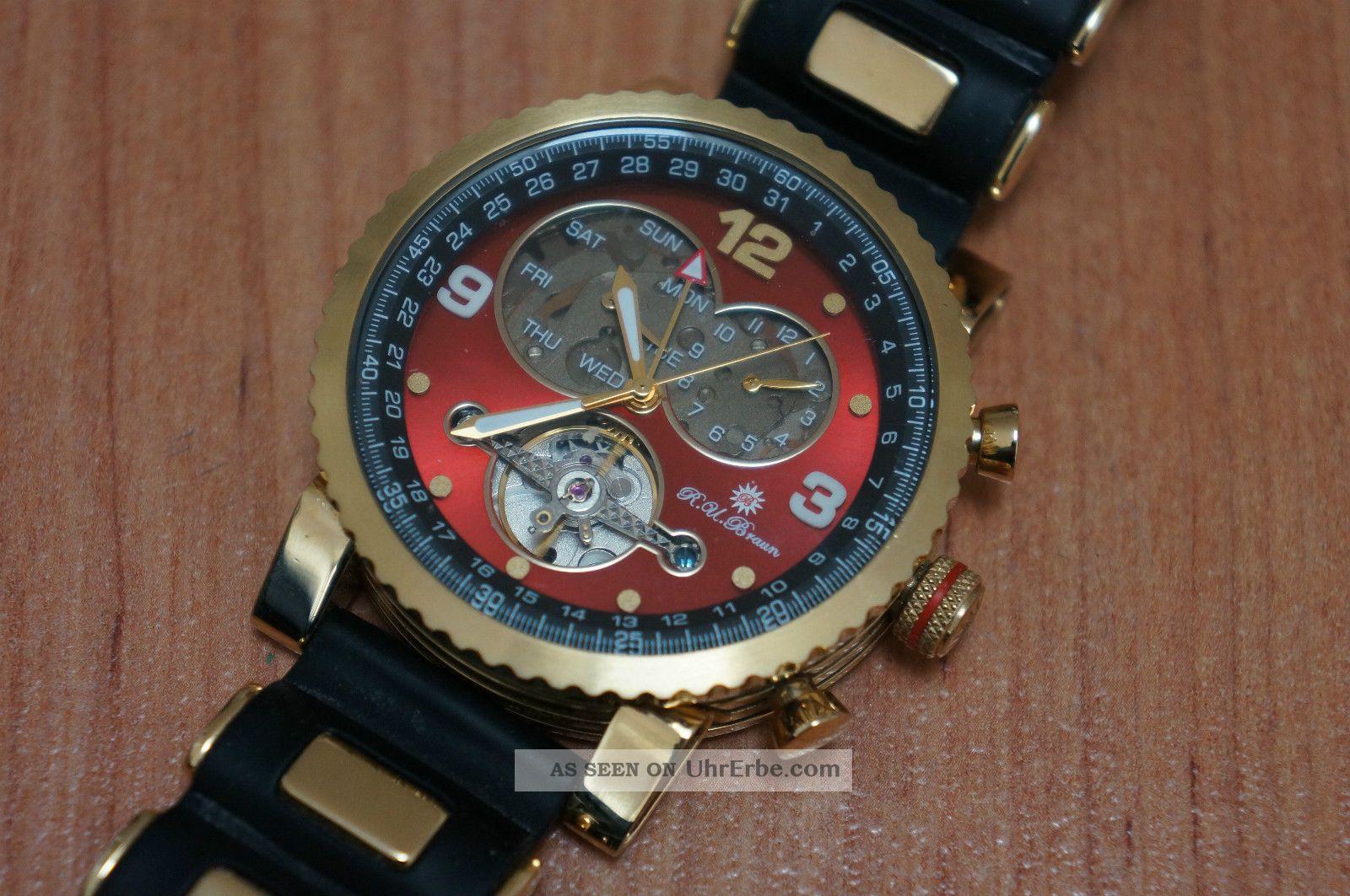 Raoul U.  Braun Rub 05 - 0051 Automatikuhr,  Edel, Armbanduhren Bild