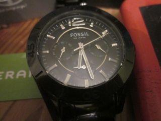 Armbanduhr Fossil 10 Atm,  Keramik,  Metallarmband,  Faltschließe,  Multifunktion Bild